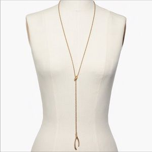 Madewell wishbone necklace